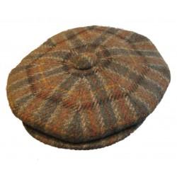 casquette vintage beige marron rouge jaune  100% laine  taille 54 cm homme femme enfant rockabilly pin up
