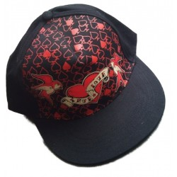 casquette noir rockabilly true love hirondelle as de pique