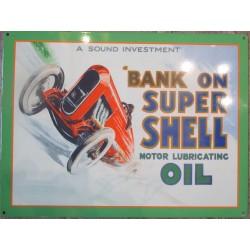 plaque shell voiture bank on super loft diner deco garage tole metal