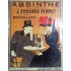 plaque absinthe edourd pernot montbeliard tole bombée  40 cm