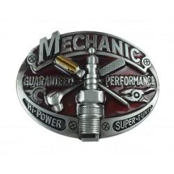 boucle de ceinture méchanic rouge bougie  clé cliquet tournevis homme mécano