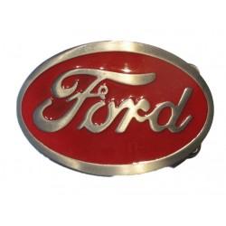 boucle de ceinture ford logo rouge homme mécano mixte