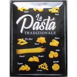 plaque la pasta tradizionale pates italienne tole 40cm  bombée déco cuisine metal