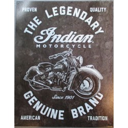 plaquethe legenday indian motorcycle moto tole pub affiche metal usa