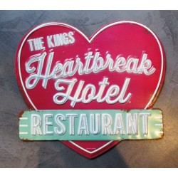 plaque heartbreak hotel restaurant  decoupé king affiche metal pub