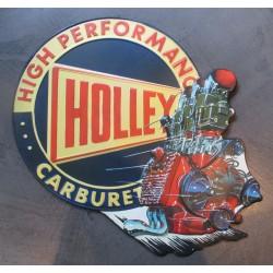 plaque holley high performande carburetor moteur v8 tole deco garage us