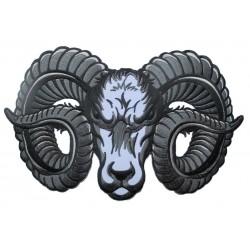 gros patch tete de belier logo  dodge 27.5x19 cm   ecusson thermocollant dos veste blouson