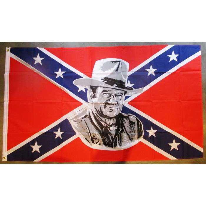 drapeau rebel  john wayne nylon 150x90 flag biker rock roll general lee