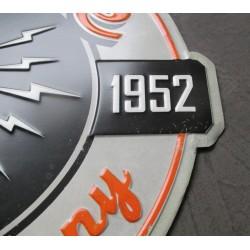 plaque take five record company 40x34cm tole embouti aspect vieillit  pub