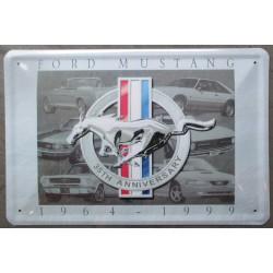 plaque for mustang grise 35th bombé 30x20cm deco garage usa