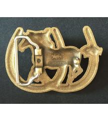 a12bd223e87 boucle de ceinture cheval et fer à cheval doré fan country cow boy