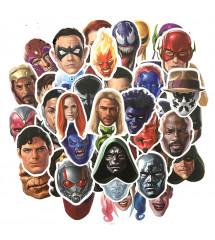 lot de 50 stickers visage...