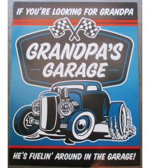 plaque grandpas' garage t...
