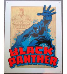 plaque super hero black...