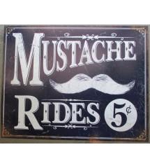 plaque mustache rides 5...