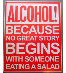 plaque  humour alcool ,...