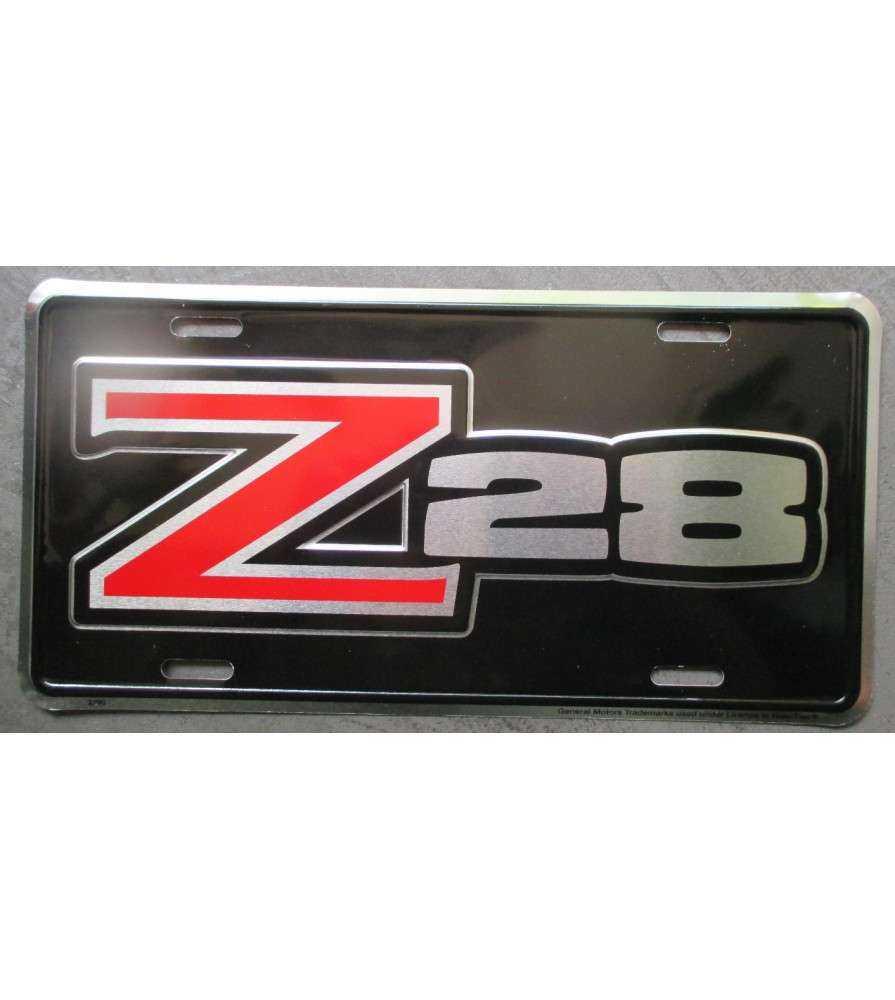 Plaque d 39 immatriculation z28 camaro chevy tole usa license - Immatriculation chambre de commerce ...
