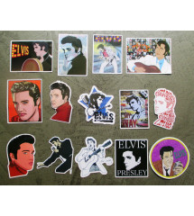 lot de 15 stickers elvis...