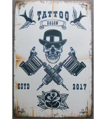 plaque metal tattoo salon...