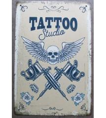 plaque metal tattoo studio...