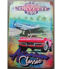 plaque corvette 1965 avec...