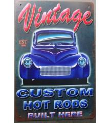 plaque vintage custom hot...