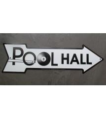 plaque flèche  pool hall...