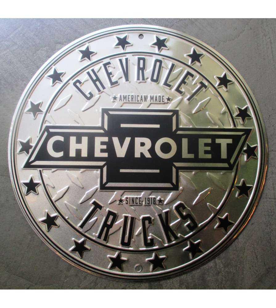 plaque chevrolet truck ronde