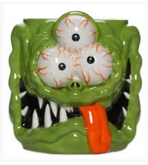 mug monstre vert 3 yeux 9cm...
