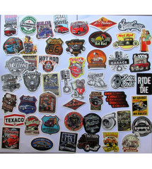 lot de 50 stickers hot rod...