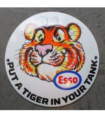 plaque emaillée esso tigre