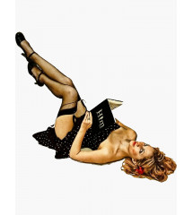 sticker pin up et livre