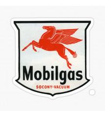 sticker blason mobilgas