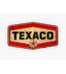 sticker blason texaco , aspect vieillit
