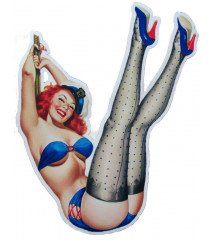 sticker pin up sous vetements bleu