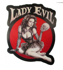sticker pin up gothique...