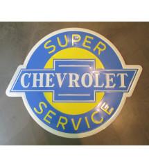 plaque chevy super  service...