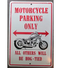 plaque motorcycle parking...
