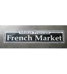 plaque de rue french market...