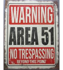 plaque warning area 51 no...