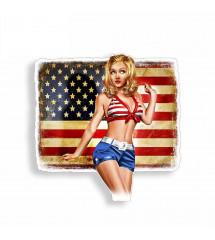 sticker pin up blonde...