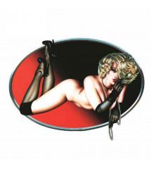 sticker pin up nue allongé...