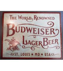 plaque budweiser  the world...