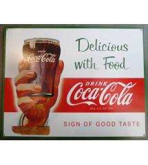 plaque coca cola delicious...