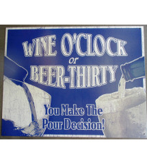 plaque wine o clock beer thirty , humour bar