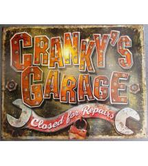 plaque cranky's garage...