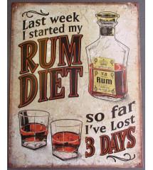 plaque rum diet , humour bar boite de nuit