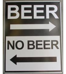 plaque humour direction biere , pas de biere