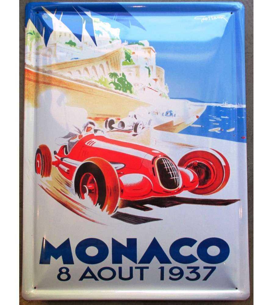 plaque monaco 1937 , grand prix