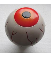 levier oeil orange , globe oculaire